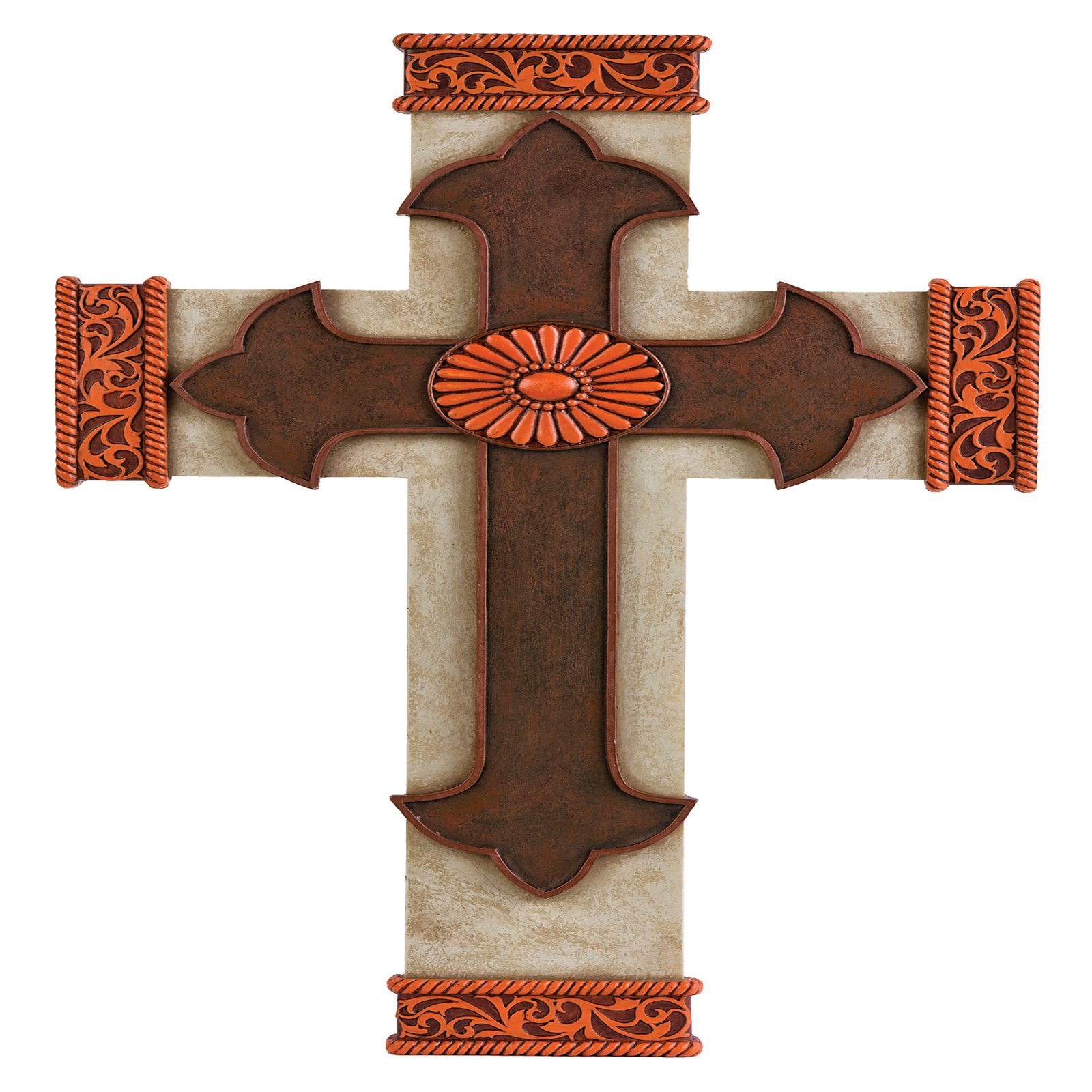 Montana Silversmiths Tooled Rustic Cross