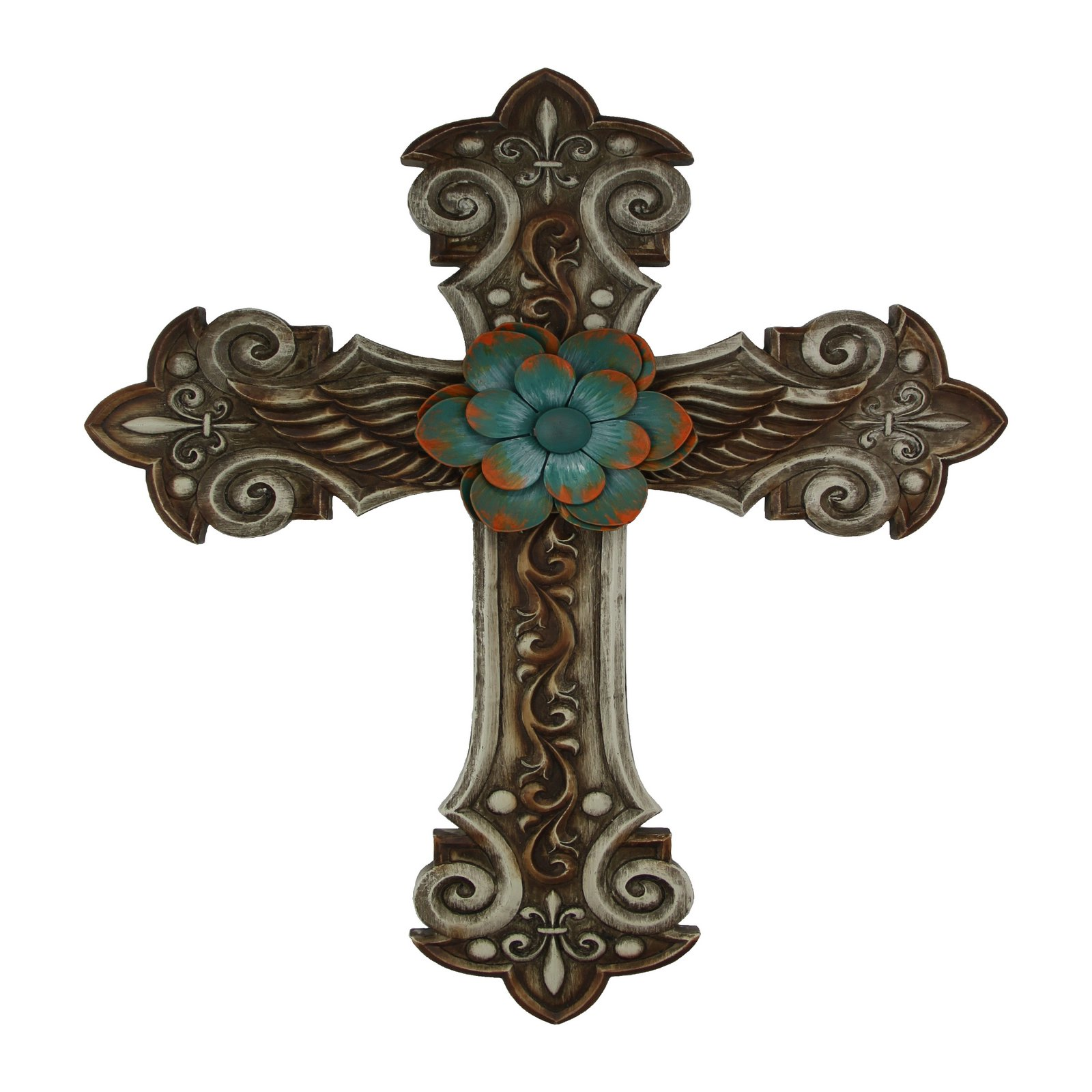 Montana Silversmiths Winged & Cross With Flower Wall Art
