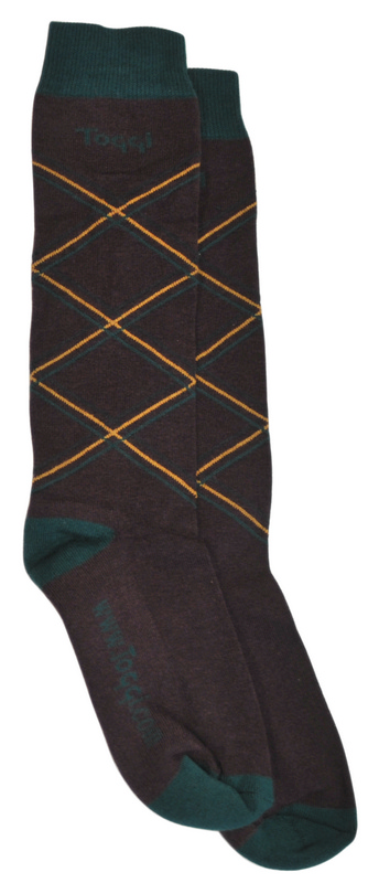 BRAND NAME Multi Argyle Socks