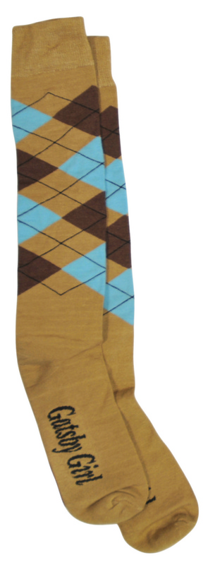 BRAND NAME Novelty Argyle Socks