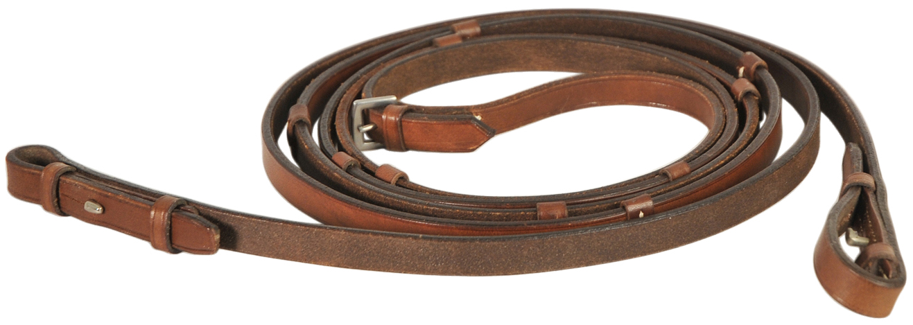 Courbette Plain Leather Reins with Stops