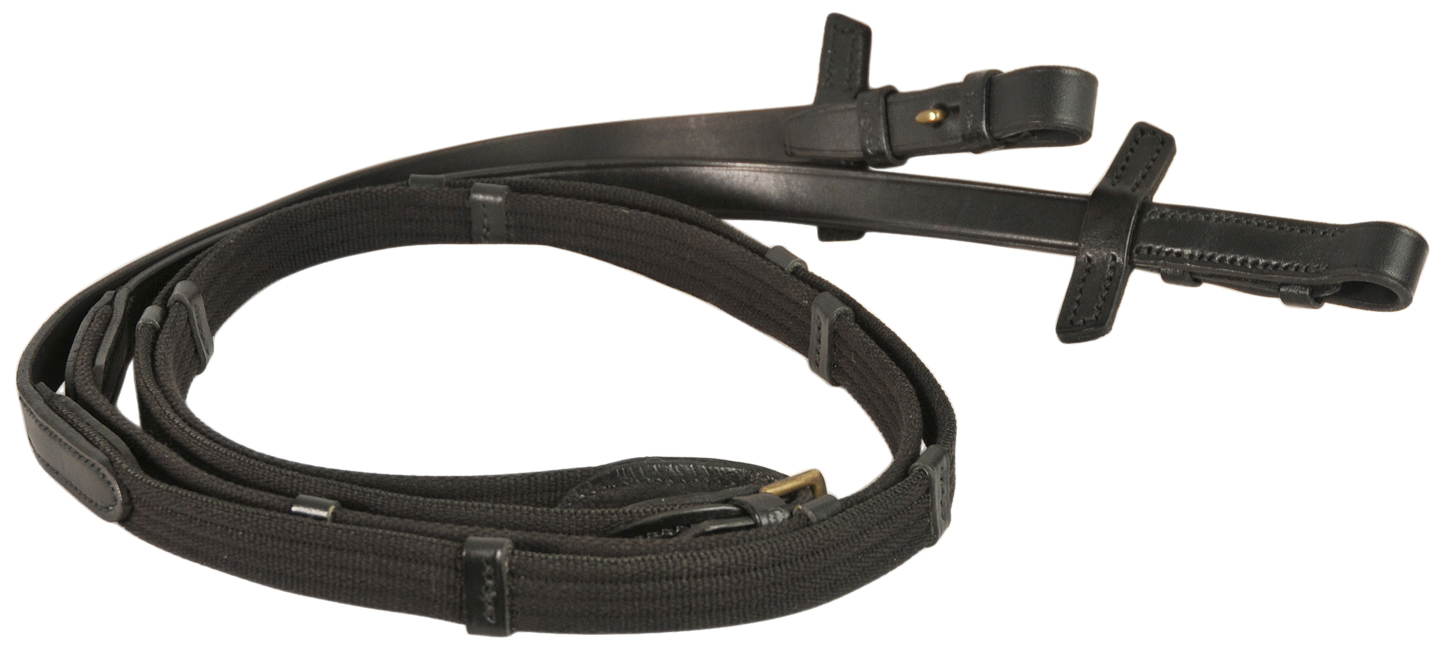 Courbette Web Reins with Stops