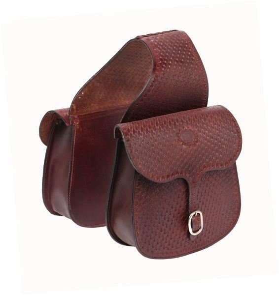 Tough-1 Basket Stamp Saddle Bag