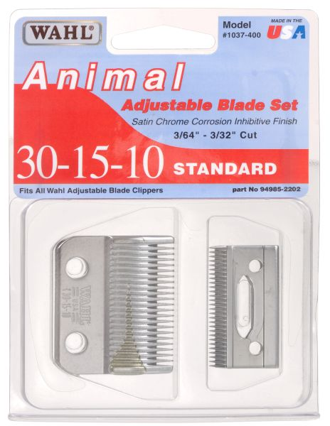 Wahl 30-15-10 Blade Set For Adjustable Clippers