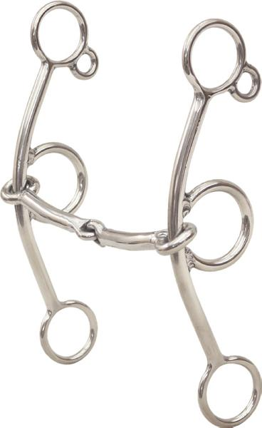 Darnall Connie Combs 3/8'' Snaffle Gag Bit