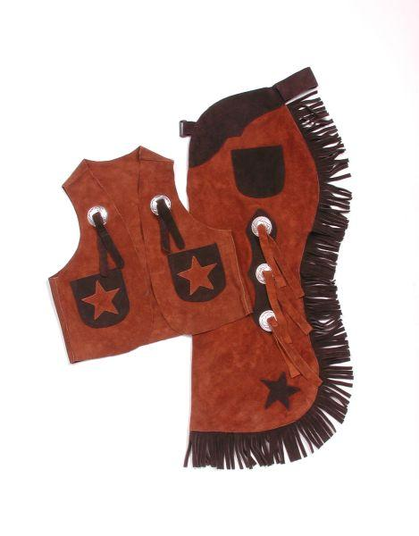 Tough-1 Youth Vest & Chap Set With Stars
