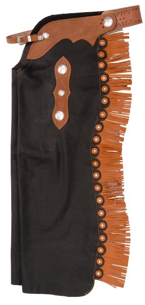 Premium Smooth Leather Custom Cowboy Cutting Chaps