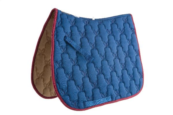Roma Ecole Contrast Stitch Butterfly Quilt Saddle Pad