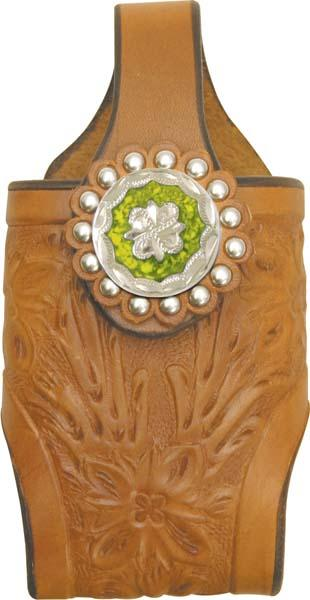 Abetta Floral Tooled Cell Holder