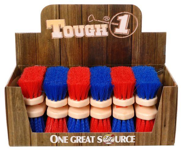 12 Pack Jr Size Medium Poly Bristle Brush Display