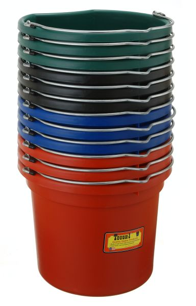 18 Quart Flat Back Bucket 12 Pack Colors