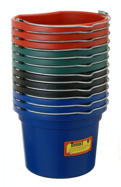 8 Quart Flat Back Bucket 12 Pack Colors