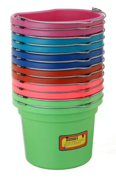 8 Quart Flat Back Bucket 12 Pack Bright Colors
