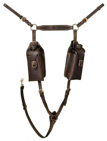 Aussie Leather Breastplate With Pouches