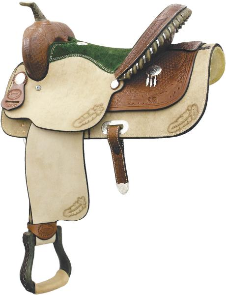 Billy Cook Saddlery Green Feather Racer Saddle