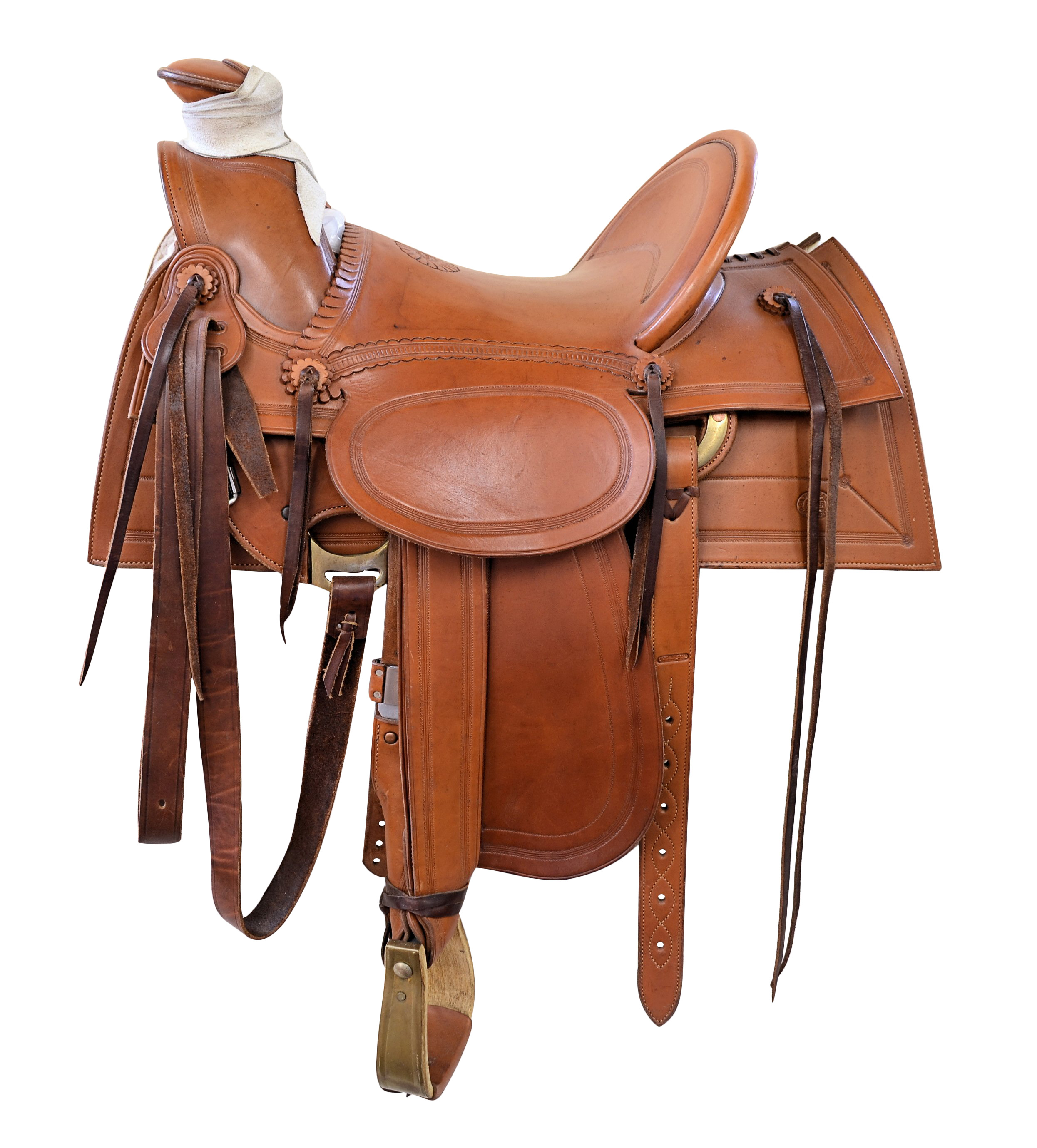 EA Meanea Roping Saddle - Cheyenne WY - Hard Seat
