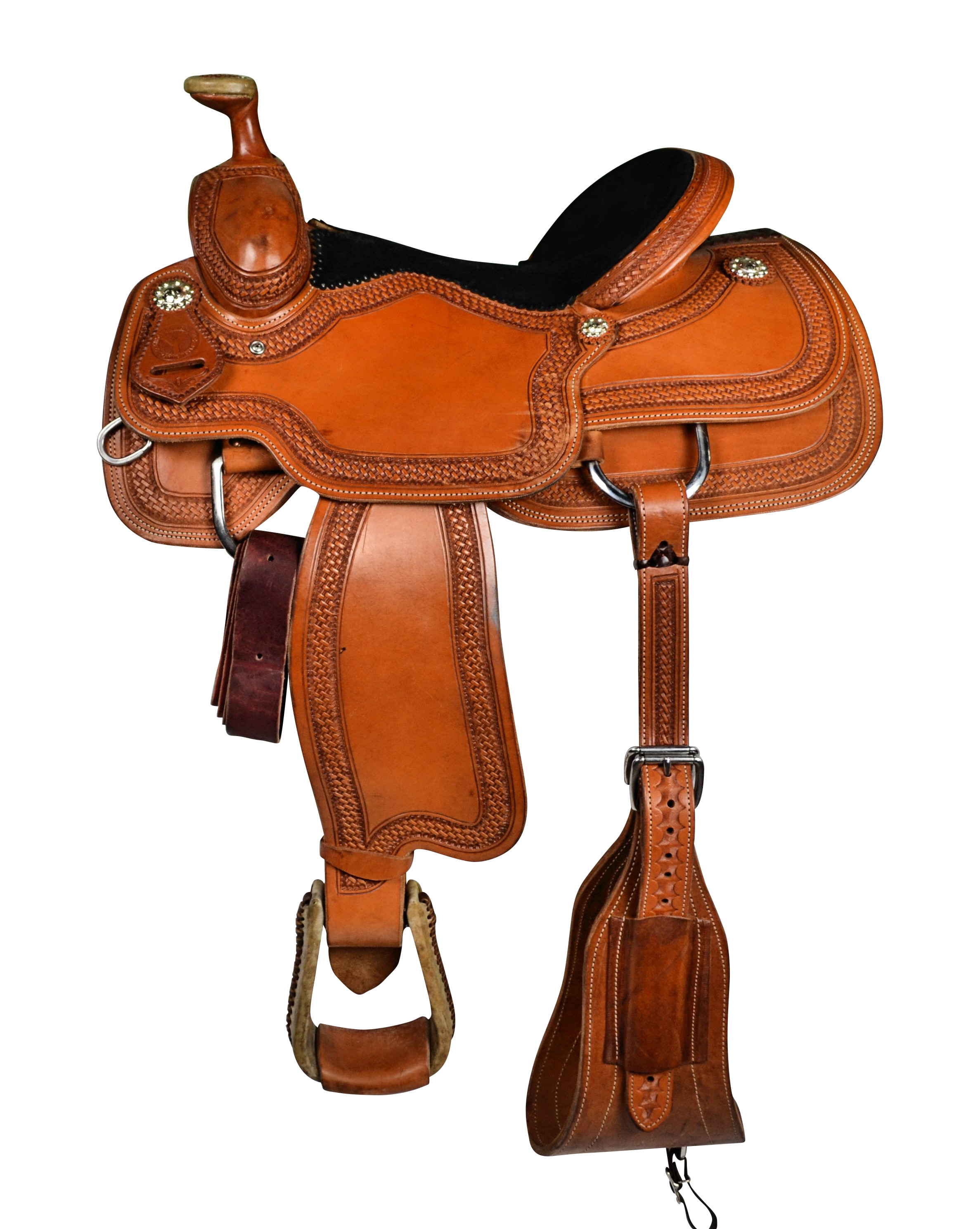Circle Y Cody Roper Saddle - Border Tooled