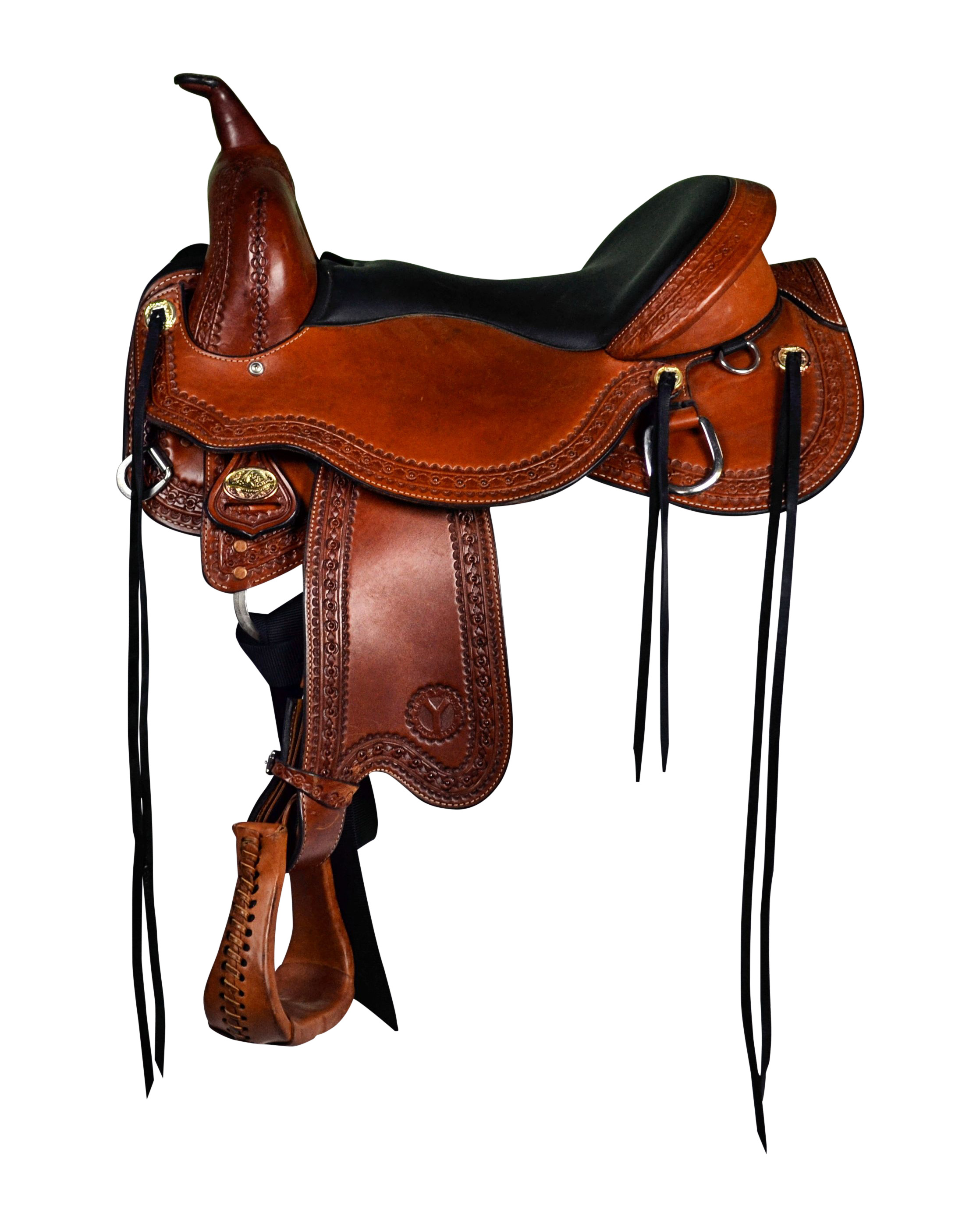 Circle Y Just-B-Natural Treeless Trail Saddle