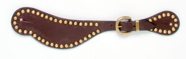 Royal King Shaped Leather Spur Straps