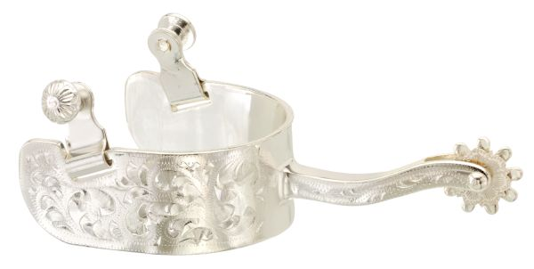 Kelly Silver Star Engraved Equitation Spurs