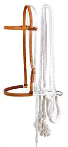Schutz Brothers Hackamore with Cotton Rope Reins
