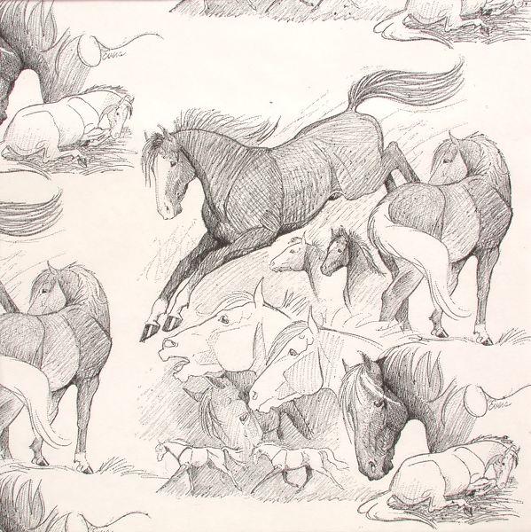 Stallions White Gift Wrap