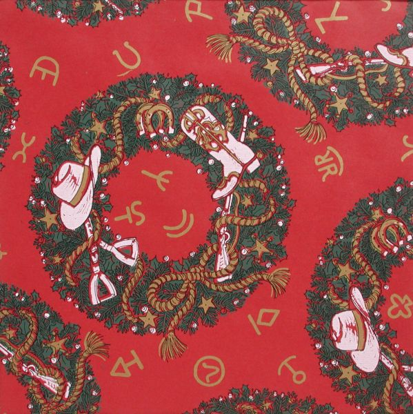 Christmas Wreaths Gift Wrap