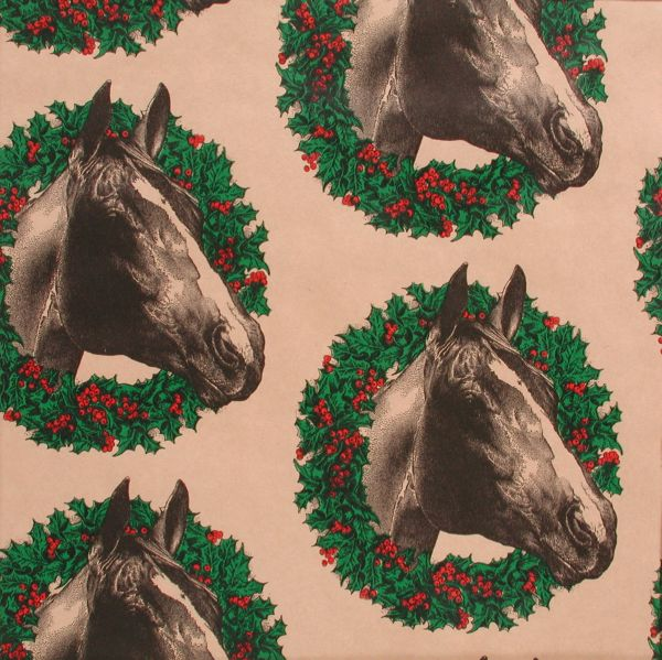 Wreath Horse Gift Wrap