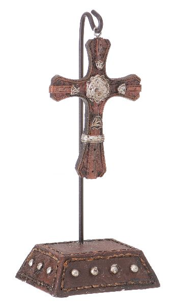 Western Cross Stand Concho