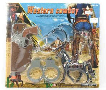 Western Play Set with Horse & Cowboy Figure
