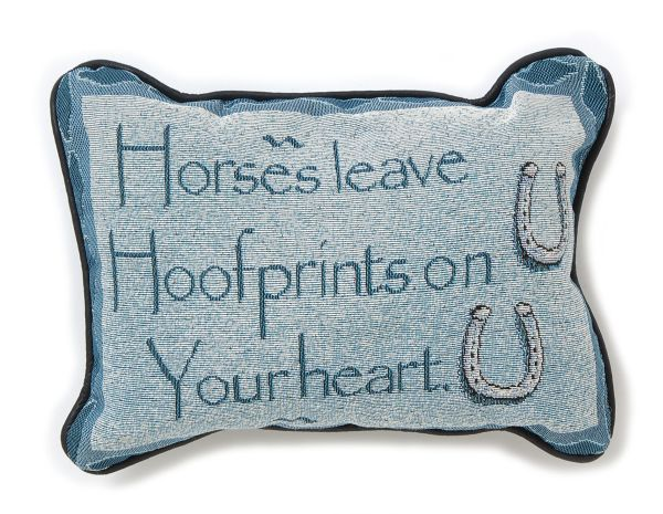 Horse Leave Hoofprints Pillow