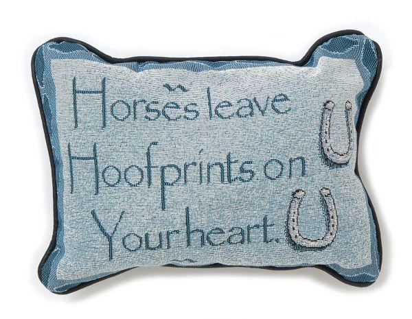 Horse Leave Hoofprints Pillow