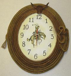 Gift Corral Bronco Rider Wall Clock