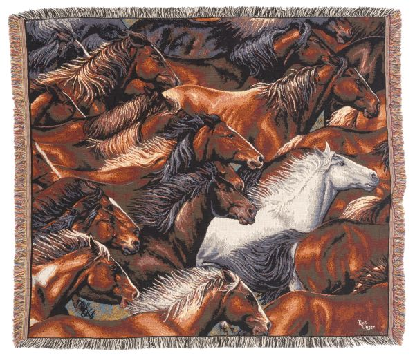 Horse of a Different Color Throw