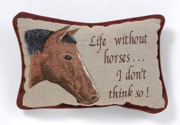 Life Without Horses Pillow