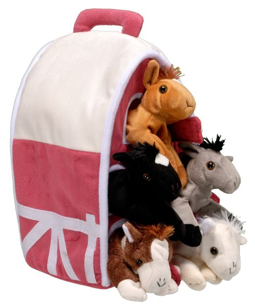 Plush Barn with 5 Horses