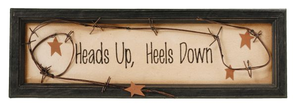 Heads Up, Heels Down Sign