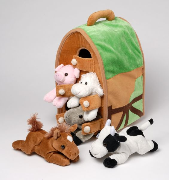 Plush Barn with Farm Animals