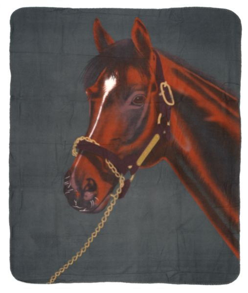 Thoroughbred Fleece Throw