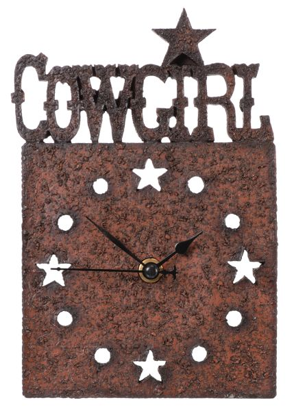 Gift Corral Cowgirl Desk Clock