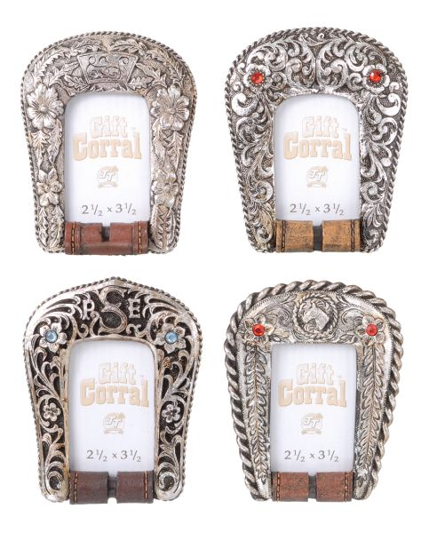 Gift Corral Silver Buckle Frames - Set of 4