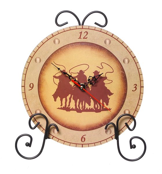 Gift Corral Clock 3 Cowboys