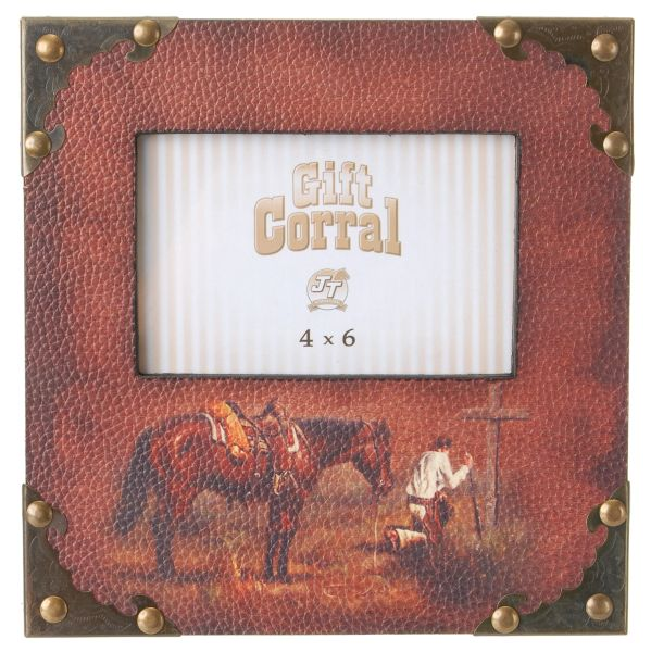 Gift Corral Praying Cowboy Photo Frame