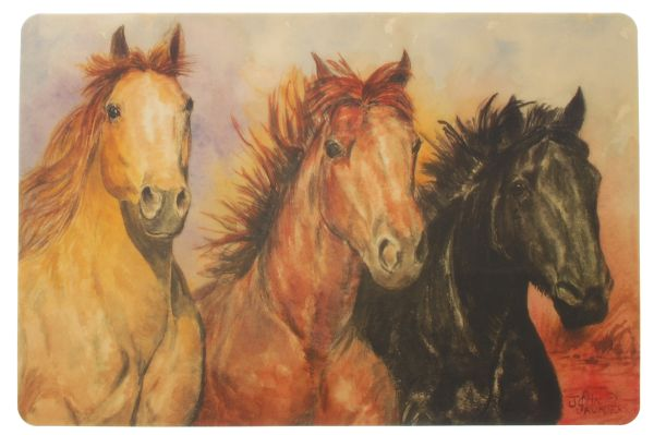 Gift Corral 3 Horses Placemat