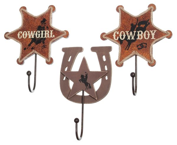 Gift Corral Western Hooks - Set of 3