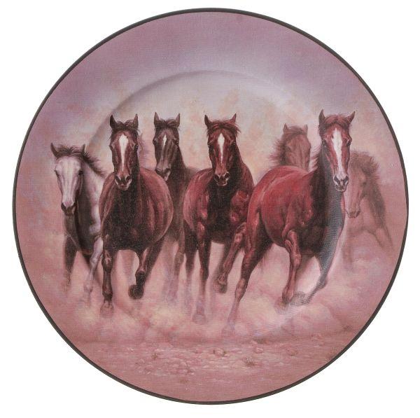Gift Corral Running Horses Plate