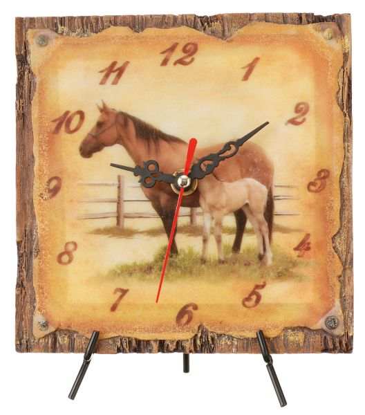 Gift Corral Mare & Foal Desk Clock