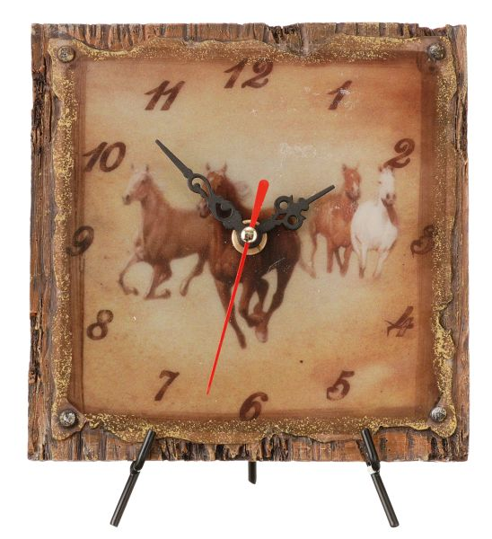 Running Horses Desk Clock