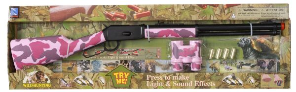 Gift Corral Pink Winchester Rifle with Light and Sound