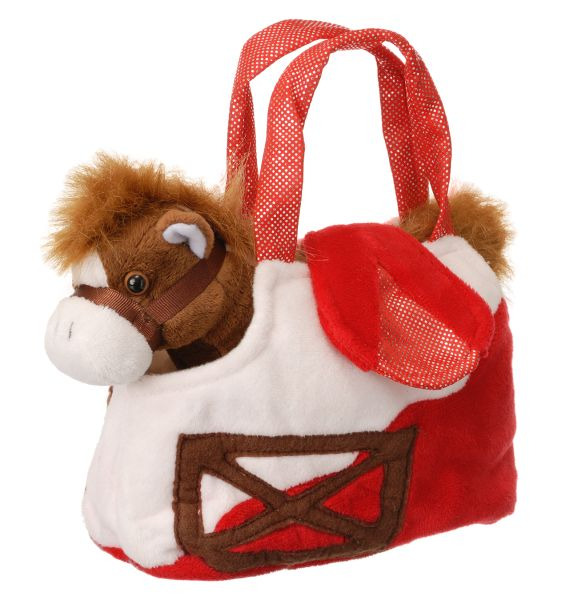Gift Corral Plush Barn Purse with Horse